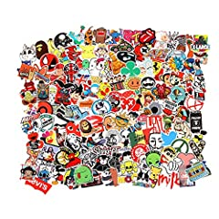 Size:2.3-4 inch. Material:PVC . different cool waterproof stickers choosed From FIVE thousands of stickers Randomly. Never faded out! Easy to remove and do not leave a residue. And you can peel it off and stick on other place again! Awesome Assortmen...