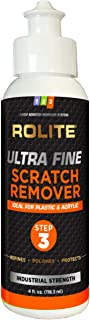 Ultra Fine Scratch Remover for Plastic & Acrylic Surfaces Including Marine Strataglass & Eisenglass, Headlights, Aquariums
