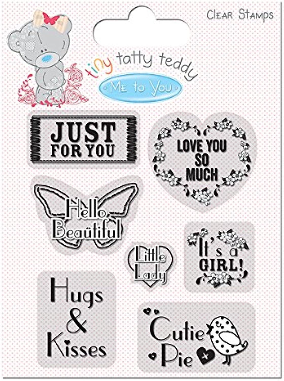 Unbekannt Tiny Tatty Teddy Mädchen Klar Sentiment Stempel Stempel Stempel B00PULM8TK | Konzentrieren Sie sich auf das Babyleben  b9dbf1