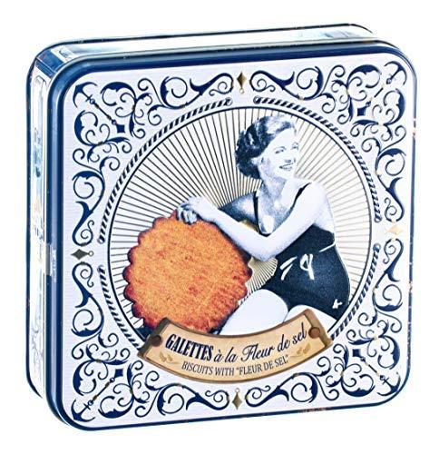 DV France Latta in Metallo con Biscotti Puro Burro e Fior di Sale - 1 x 150 Grammi
