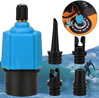 Inflatable SUP Pump Adaptor Compressor Air Valve Converter, Multifunction SUP Valve Adapter with 4 Air Valve Nozzlesz, Air...