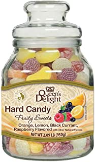 Sponsored Ad - Queen's Delight Fruit Candy Jar - All Natural Fruit Juice Candy