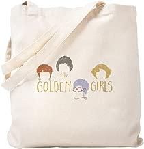 CafePress Golden Girls Minimalist Natural Canvas Tote Bag, Reusable Shopping Bag