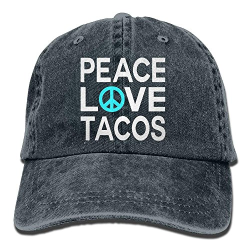 Peace Love Tacos Vintage Jeans Baseball Cap Trucker Hat for Men and Women HI366