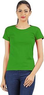 MODISH Combo of 2 Causal Plain Women T-Shirts