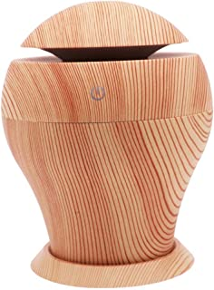 Wood Grain Aromatherapy Diffusers, 250ml Ultrasonic Cool Mist Humidifier with 7 Colour Changing LED Lights for Home Yoga O...
