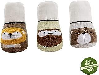 Baby Lovely Cotton Socks, Morbuy 3 Pairs Boys Girls Newborn Non-slip Warm Kids Unisex Crew Socks Soft Elastic Toddlers Ankle Socks 0-3 Year