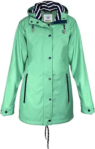 MADSea Manteau de Pluie Femme en Vert Tilleul