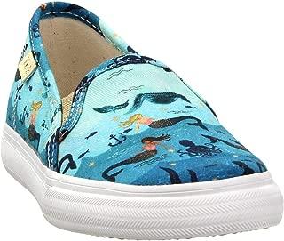 Keds Girls Double Decker Mermaids (Toddler) Casual Sneakers, Blue, 8