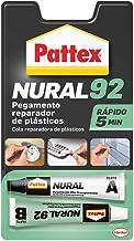 Pattex Nural 92 Pegamento reparador de plásticos, cola transparente para reparar y pegar plástico, rápida y resistente a l...