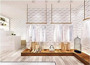 3D Modern Behang PVC Abstract Solid Geometrie Off-White Behang Achtergrond Roll Decoratie Slaapkamer TV Muur Woonkamer -53...