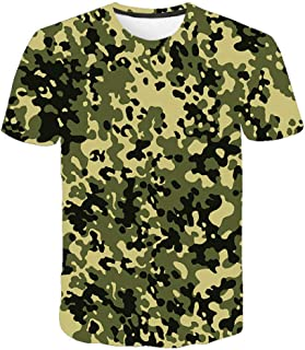 Camiseta para Hombre Moda para Hombre Deportes Fitness 23 Camuflaje Camisa 3DT de Manga Corta Camisa para camuflaje-TXA1072_L
