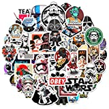 50Pcs Science Fiction Film Theme Star Wars Stickers Cute Stickers for Water Bottles Hydroflasks Skateboard Decal Stickers for Teens, Girls, Boys, Adults Laptop Stickers (Star Wars)
