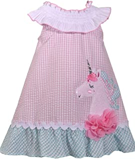 Baby Girls Unicorn Seersucker Dress