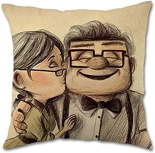 were Carl and Ellie up Love Story Pillow Covers Fundas para Almohada 26x26Inch(65cmx65cm)