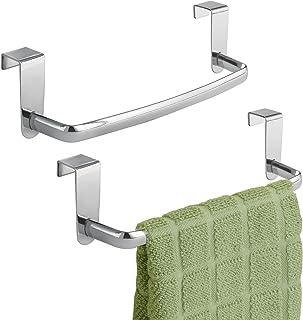mDesign accroche torchon (lot de 2) – porte-serviettes à accrocher à la porte de l'armoire de cuisine – accroche serviette...