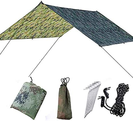 MCGAOJIN Toldo De Camping, Lona Impermeable, Tienda De Campaña, Playa, Toldo De Gran Tamaño, Tela Impermeable, Toallita Impermeable, Toldo Triangular, ...