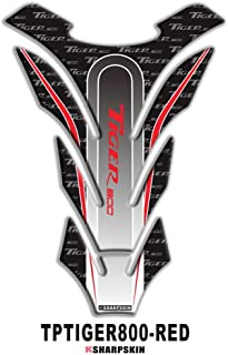 psler Motorcycle 3D Fuel Tank Pad Sticker Protective Decorative Decal for Triumph TIGER 800 (Red)