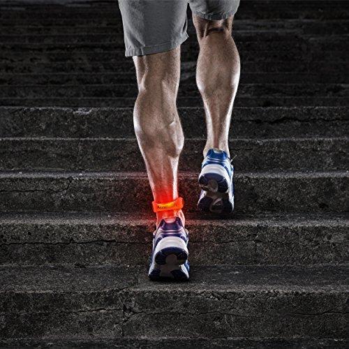 AccuBuddy LED Armband – Hell Leuchtendes Jogging Licht und Sicherheitslicht für alle Outdoor Sportarten - 5