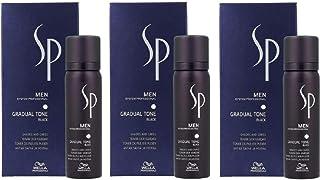 3 x Wella SP Just Men – Gradual Tone negro 60 ml + 30 ml