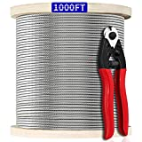 1000FT 1/8' T316 Stainless Steel Cable, Wire Rope...