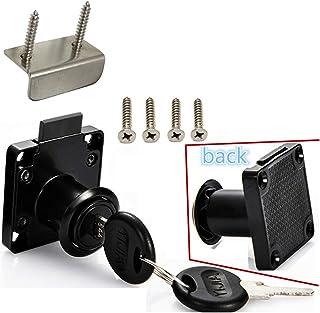 Drawer Lock Letter Box Lock Desktop Lock Door Lock.Suitable for Wooden cabinets.Model CT-138-22, (Opening Diameter 0.75 in...