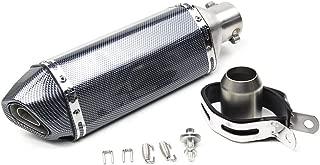MUSAN Motorcycle Slip On Exhaust System Carbon Fiber Muffler Pipe Universal for 38-51mm Street Sport bike DB Killer