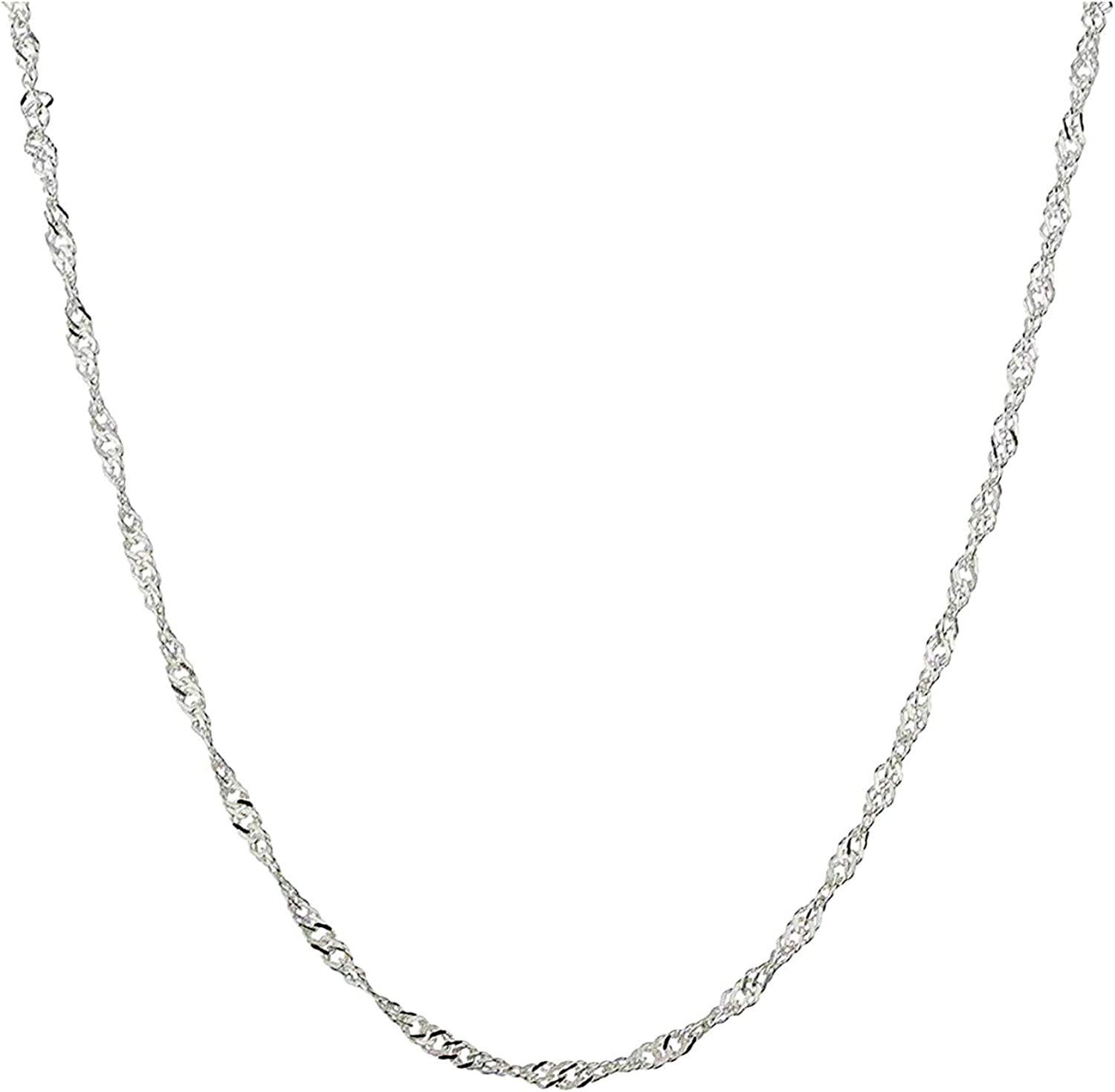 AmyRT Stainless Steel Chain New product Sales for sale type Necklace Silver Men 16