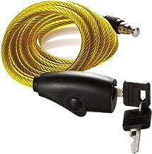 Stalen kabel touw lock/motorfiets lock batterij auto fiets anti-diefstal lock riding apparatuur geel-geel