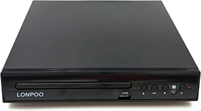 LONPOO Compact DVD/CD Player Region Free with Remote Control and Built-in PAL/NTSC System, USB Port Support MP3 Play