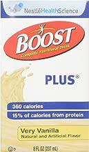 Nestle 4390093138 Boost Plus Very Vanilla 8oz Brikpaks 27/Case