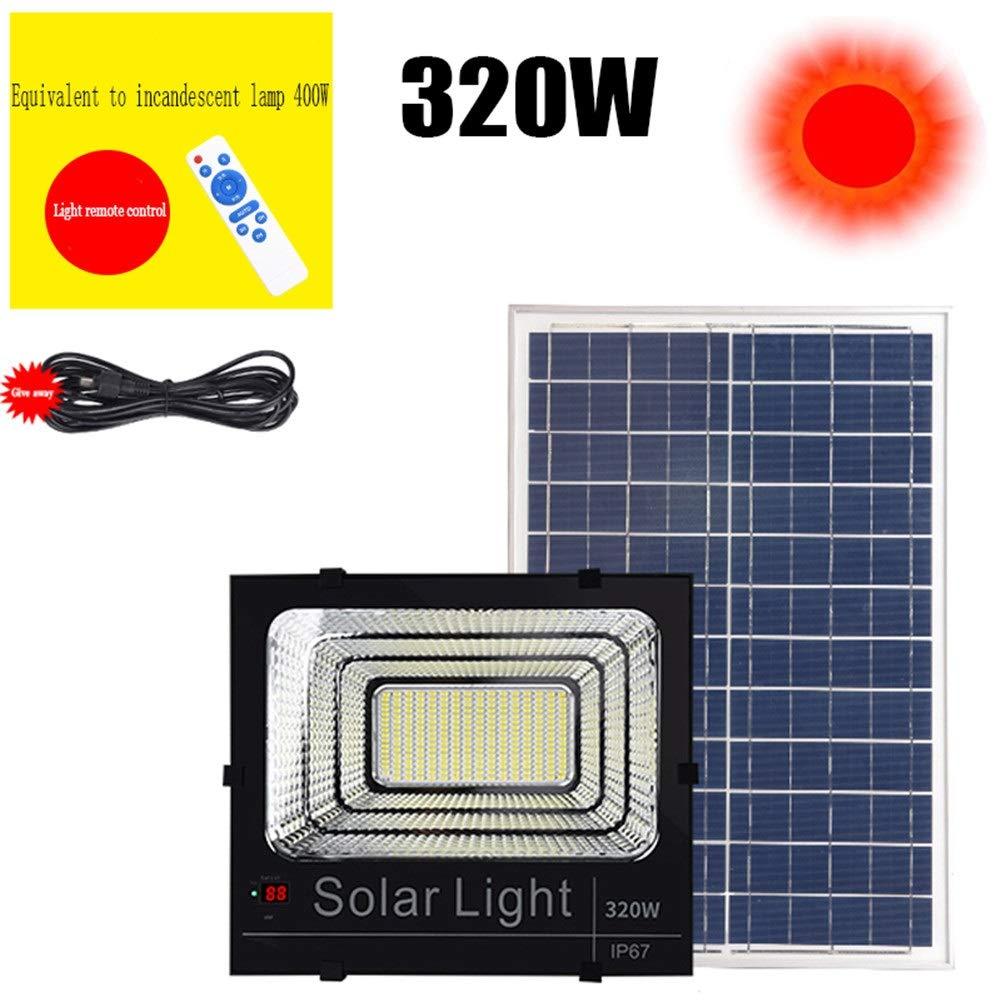 Solar Proyectores Led Exterior, Super Brillante Paneles Solares Impermeable Yarda Escalera Rural Patio Foco Led Solar Exterior (Size : 320W): Amazon.es: Iluminación