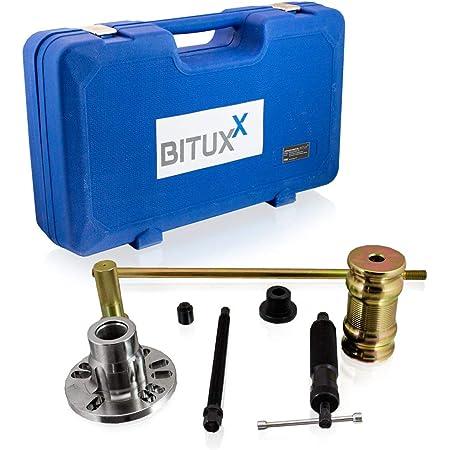Bituxx 3in1 Radlager Hydraulischer Abzieher Werkzeug Satz Kfz Radnaben Antriebswellen Ausdrücker Set Auto