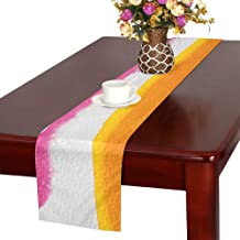WBSNDB Watercolour Painting Technique Soluble in Water Table Runner, Kitchen Dining Table Runner 16 X 72 Inch for Dinner Parties, Events, Decor