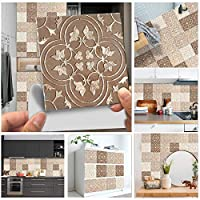Qjbh1 曇りタイルの床の壁のステッカーキッチンバスルームクローゼットの壁紙滑り止めの厚い壁のデカール (Color : MZ 3 044, Size : 30cmX30cmX10pcs)