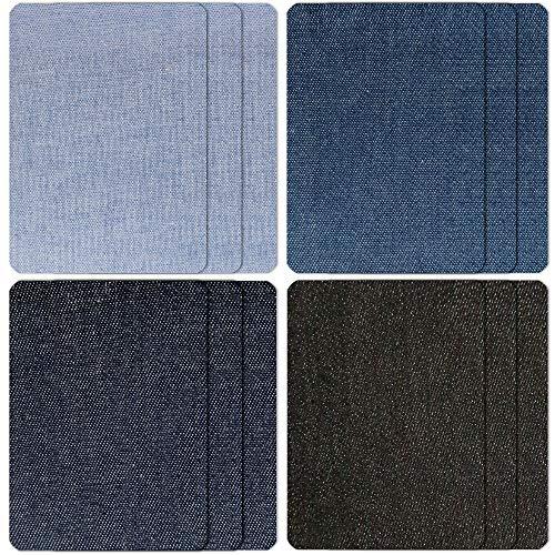 Jeans-Aufnäher zum Aufbügeln, rechteckig, zum Aufbügeln, 12 Stück