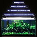 DOCEAN-Aquarium-LED-Beleuchtung-Leuchte-Lampe-15-LEDs-5050SMD-28CM-Lighting-fr-Fisch-Tank-EU-Stecker-Blaulicht-Wasserdicht