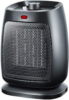 Calefactor de cerámica compacto con 3 niveles de potencia 750 W/1800 W, protección contra vuelcos y sobrecalentamiento, calentamiento en 2 segundos, calefactor eléctrico portátil para oficina