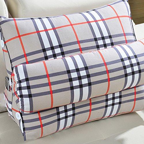 Dossier De Chevet Lit coussin coussins de canapé bureau lombaire oreiller dos lit oreiller coussin de taille d'oreiller triangulaire (taille : 60 * 25 * 50cm)