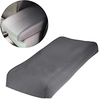 MOTOALL Gray Auto Car Vinyl Synthetic Leather Center Console Armrest Cover Lid Cap Pad Box Cover for 2008 2009 2010 2011 2012 2013 Toyota Highlander