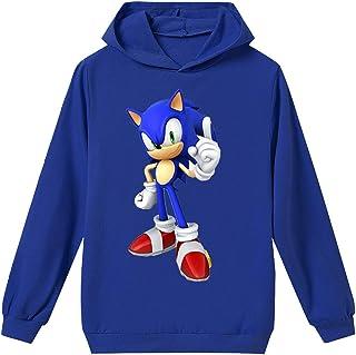 Tamaño Unisex para Niños Sonic The Hedgehog Sudadera con Capucha Sudadera Sonic Adventure Cosplay Sonic Ropa para Niños y Niñas Adolescentes