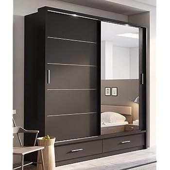 Arthauss Arti 5 Armario con puerta corredera y espejo, 200 cm ...