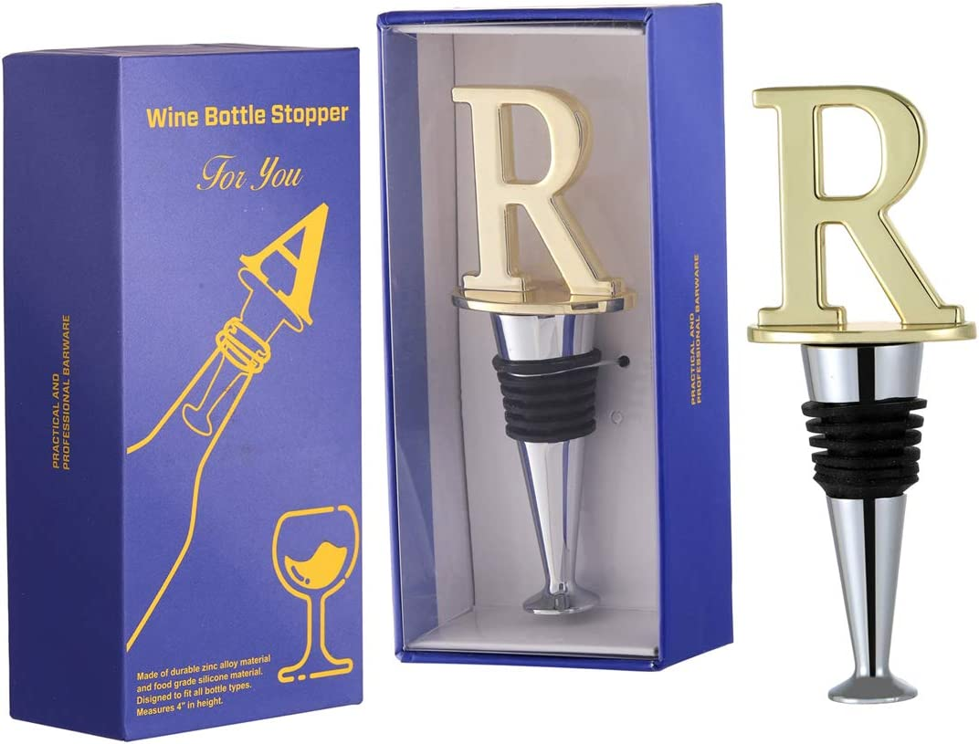 Wine Beverage Bottle Sale Special Price Stoppers Reusable Letter Initial trend rank R Sha