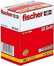 FISCHER plug SX, maat 8 x 40 mm, met flens, verpakking van 100 stuks,
