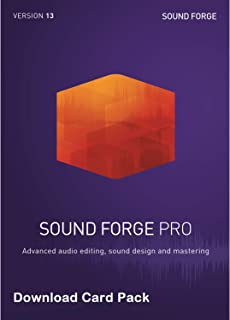 MAGIX Sound Forge Pro 13 [Download Card] - Audio Editing, Recording, Restoration and Mastering