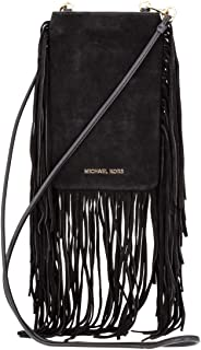 Cary Fringed Suede Ladies Small Black Leather Crossbody Bag 32F8G0CC5S001