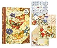 パンチスタジオ グリーティングカードセット ブック型BOX 2種 (フラワー×蝶) 57964