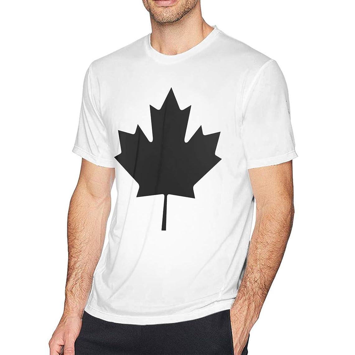 突き刺すくすぐったい太鼓腹カナダの紅葉 メンズ シャツ 半袖 薄手 カットソー カジュアル トップス オリジナル プリント シンプル ファッション