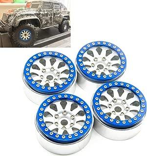 RCLIONS Aluminum Metal 1.9inch Beadlock Wheels Rims 12mm Hex for Axial SCX10 D90 TRX4 1/10th Rock Crawler Car-Pack of 4