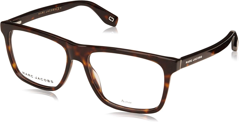 Marc Jacobs Marc 342 086 Dark Havana Plastic Rectangle Eyeglasses 55mm